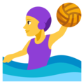 Woman Playing Water Polo on EmojiOne 3.1