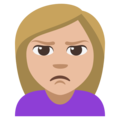 Woman Pouting: Medium-Light Skin Tone on EmojiOne 3.1
