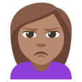Woman Pouting: Medium Skin Tone on EmojiOne 3.1