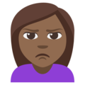 Woman Pouting: Medium-Dark Skin Tone on EmojiOne 3.1