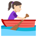 Woman Rowing Boat: Light Skin Tone on EmojiOne 3.1