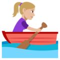 Woman Rowing Boat: Medium-Light Skin Tone on EmojiOne 3.1