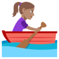 Woman Rowing Boat: Medium Skin Tone on EmojiOne 3.1