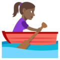 Woman Rowing Boat: Medium-Dark Skin Tone on EmojiOne 3.1