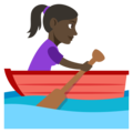 Woman Rowing Boat: Dark Skin Tone on EmojiOne 3.1