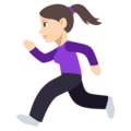Woman Running: Light Skin Tone on EmojiOne 3.1