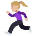 Woman Running: Medium-Light Skin Tone on EmojiOne 3.1
