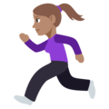 Woman Running: Medium Skin Tone on EmojiOne 3.1