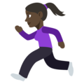 Woman Running: Dark Skin Tone on EmojiOne 3.1