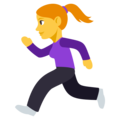 Woman Running on EmojiOne 3.1