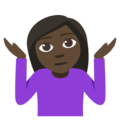Woman Shrugging: Dark Skin Tone on EmojiOne 3.1
