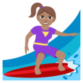 Woman Surfing: Medium Skin Tone on EmojiOne 3.1