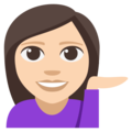 Woman Tipping Hand: Light Skin Tone on EmojiOne 3.1