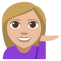 Woman Tipping Hand: Medium-Light Skin Tone on EmojiOne 3.1