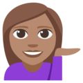 Woman Tipping Hand: Medium Skin Tone on EmojiOne 3.1