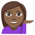 Woman Tipping Hand: Medium-Dark Skin Tone on EmojiOne 3.1