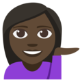 Woman Tipping Hand: Dark Skin Tone on EmojiOne 3.1