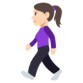 Woman Walking: Light Skin Tone on EmojiOne 3.1