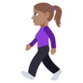Woman Walking: Medium Skin Tone on EmojiOne 3.1