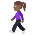 Woman Walking: Medium-Dark Skin Tone on EmojiOne 3.1