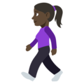 Woman Walking: Dark Skin Tone on EmojiOne 3.1