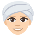 Woman Wearing Turban: Light Skin Tone on EmojiOne 3.1
