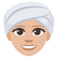 Woman Wearing Turban: Medium-Light Skin Tone on EmojiOne 3.1