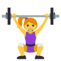 Woman Lifting Weights on EmojiOne 3.1