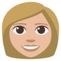 Woman: Medium-Light Skin Tone on EmojiOne 3.1