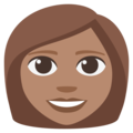 Woman: Medium Skin Tone on EmojiOne 3.1