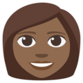Woman: Medium-Dark Skin Tone on EmojiOne 3.1