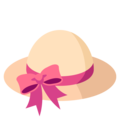 Woman's Hat on EmojiOne 3.1