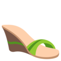 Woman's Sandal on EmojiOne 3.1