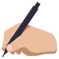 Writing Hand: Medium-Light Skin Tone on EmojiOne 3.1