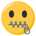 Zipper-Mouth Face on EmojiOne 3.1