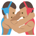 Wrestlers, Type-4 on EmojiOne 2.2.5