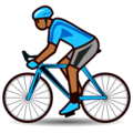 Person Biking: Medium-Dark Skin Tone on emojidex 1.0.33