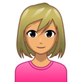 Blond-Haired Woman: Medium Skin Tone on emojidex 1.0.33