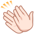 Clapping Hands: Light Skin Tone on emojidex 1.0.33