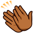 Clapping Hands: Medium-Dark Skin Tone on emojidex 1.0.33