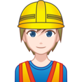 Construction Worker: Light Skin Tone on emojidex 1.0.33