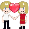 Couple With Heart, Type-1-2 on emojidex 1.0.33