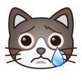 Crying Cat Face on emojidex 1.0.33