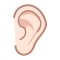 Ear: Light Skin Tone on emojidex 1.0.33