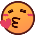 Face Blowing a Kiss on emojidex 1.0.33
