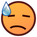 Face With Cold Sweat on emojidex 1.0.33