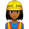 Woman Construction Worker: Medium-Dark Skin Tone on emojidex 1.0.33