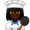Woman Cook: Dark Skin Tone on emojidex 1.0.33