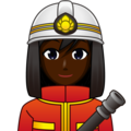 Woman Firefighter: Dark Skin Tone on emojidex 1.0.33