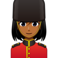 Woman Guard: Medium-Dark Skin Tone on emojidex 1.0.33